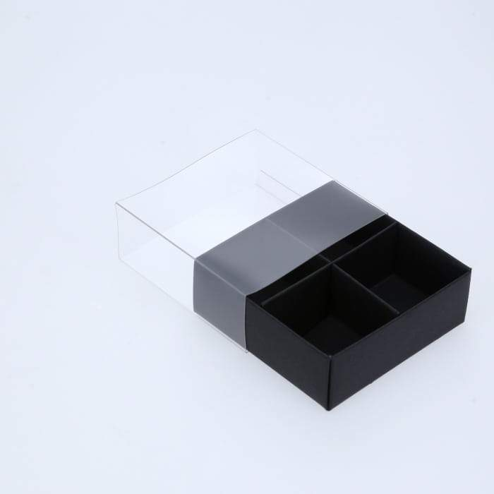 BOXXD™ ChocolateBox 4 Chocolate Box with Clear Slide Cover - Black Designer Range