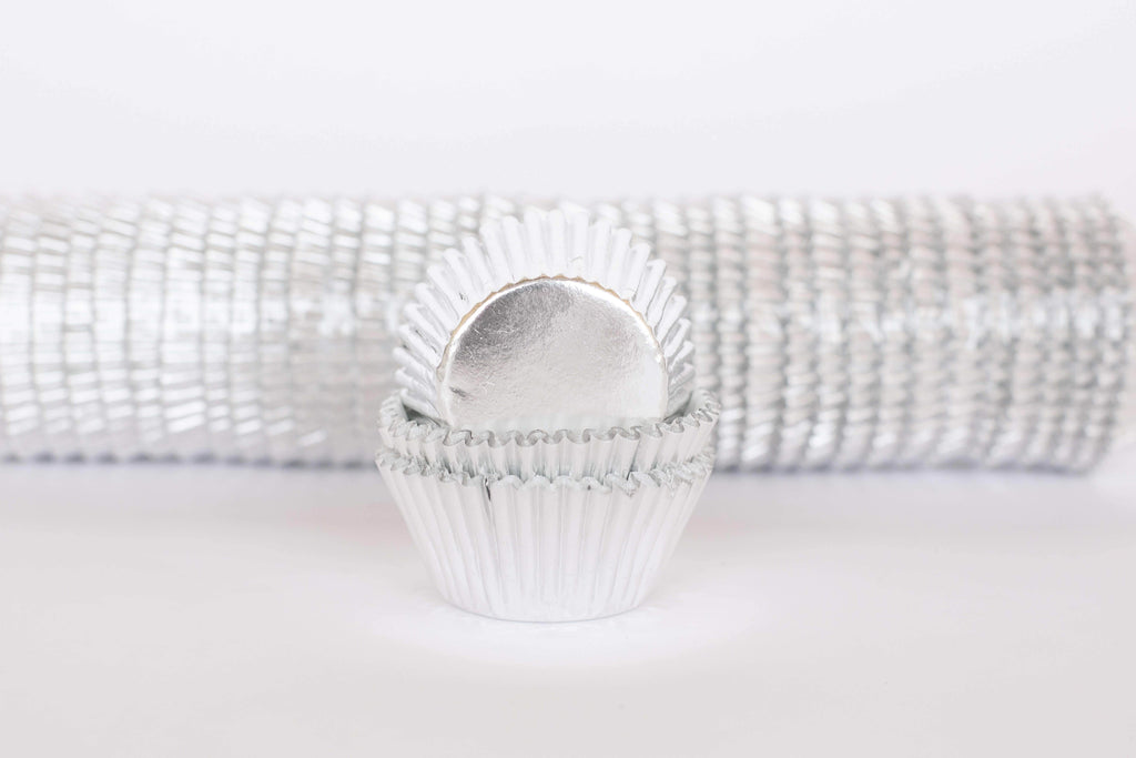 BOXXD™ PattyPans #550 (Regular Cupcake) 1000 Qty, Silver Foil Patty Pans - Baking Cups