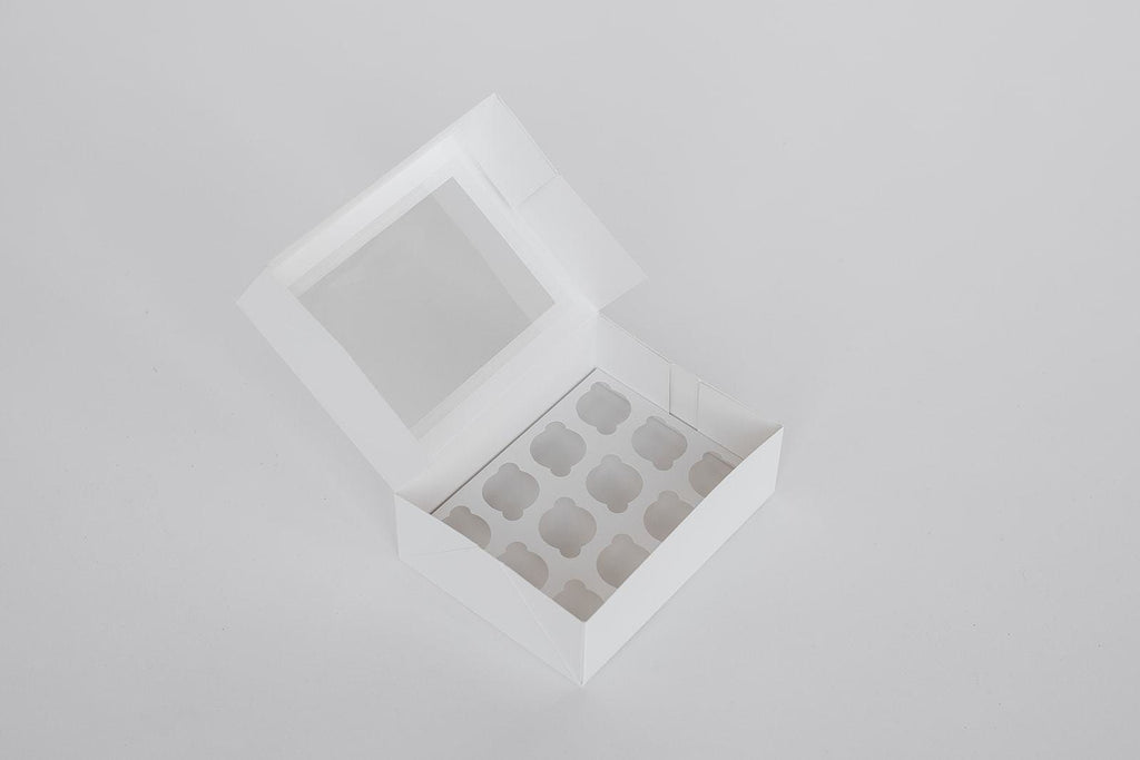 BOXXD™ CustomCupcakeBoxes Custom Branded 12 Regular Cupcake Dessert Box with Insert