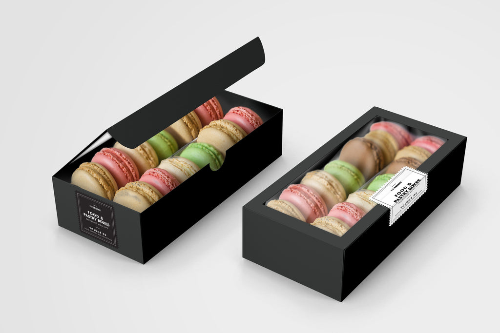 BOXXD™ CustomMacaronBoxes Custom Branded 24 Macaron Dessert Box with Slide Cover & Clear Window