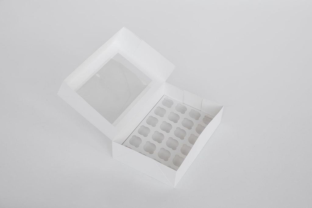 BOXXD™ CustomCupcakeBoxes Custom Branded 24 Mini Cupcake Dessert Box with Insert