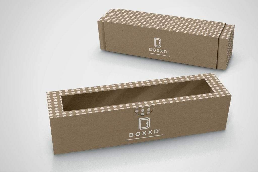 BOXXD™ CustomMacaronBoxes Custom Branded 6 Macaron Dessert Box with Slide Cover & Clear Window