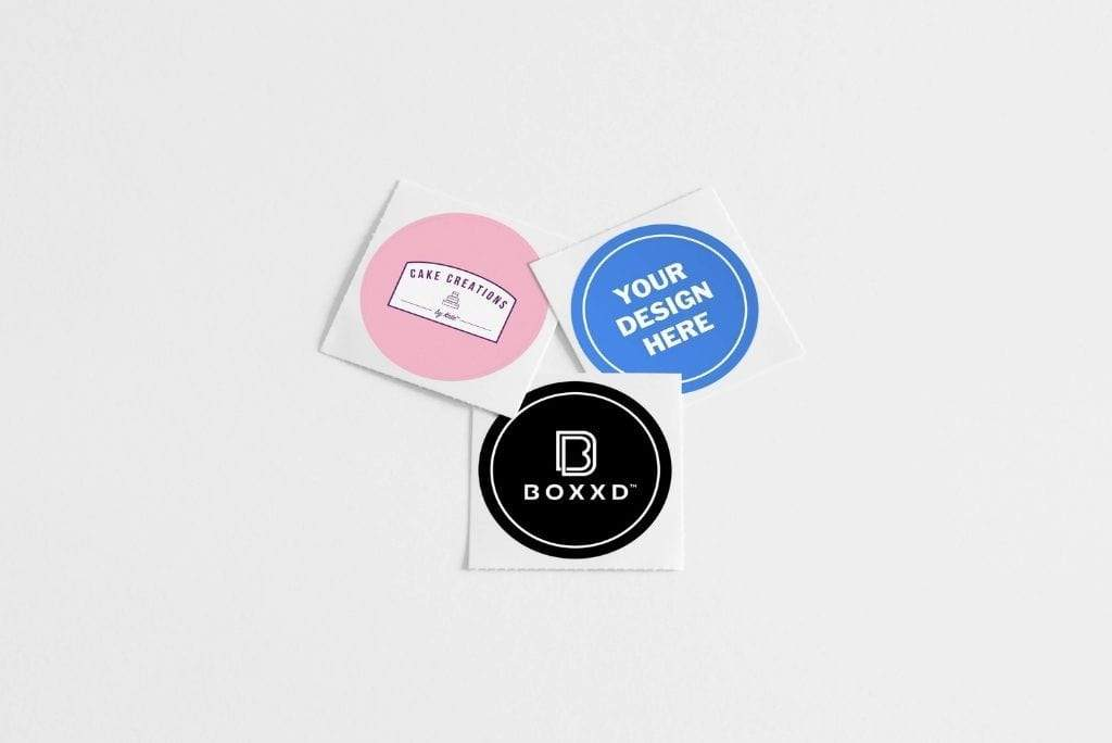 BOXXD™ Stickers Custom Branded Embossed Stickers