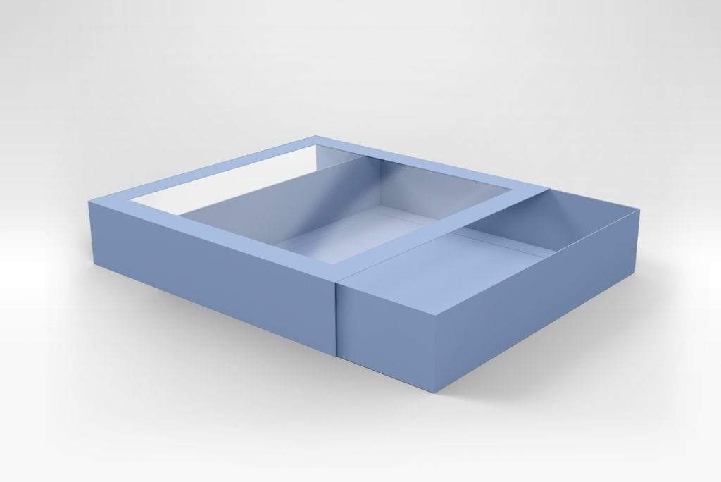 BOXXD™ CookieDessertBox Custom Printed 25 x 25 x 5cm Large Cookie Dessert Box with Slide Cover & Clear Window