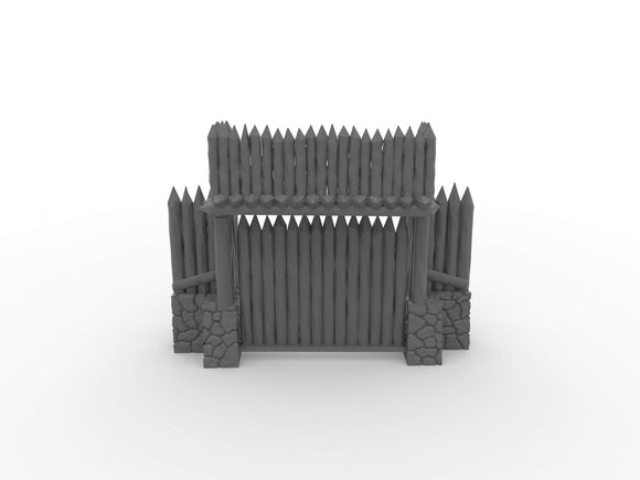 Warhead Studio Historical Wooden Palisade Defense Line Set - 14 pieces