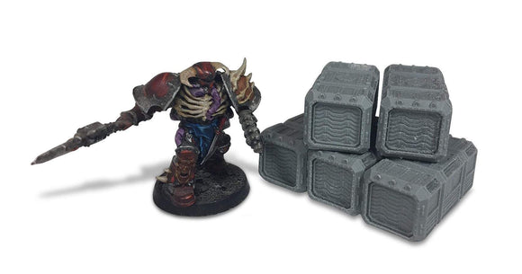 Warhead Studio Sci-Fi Terrain Small Containters Set (12)
