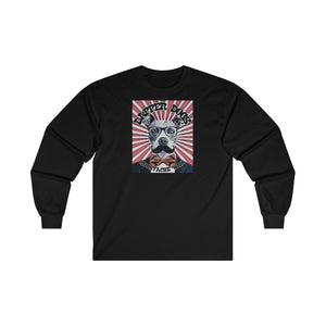 """Dapper Dogs Moustache Wax"" Graphic Ultra Cotton Long Sleeve Tee"