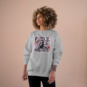 """Marilyn - Dogs are Really a Girl's Best Friend!"" Custom Graphic Champion Sweatshirt"