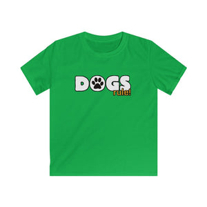 """Dogs Rule"" Kids Softstyle Tee"