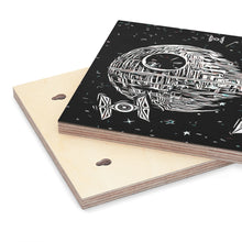 "Load image into Gallery viewer, ""Death Star"" Graphic Art on Wood Canvas"