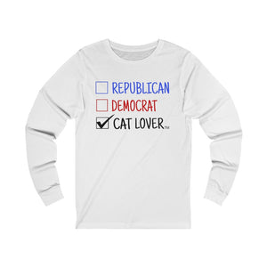 """Cats Over Party' Unisex Jersey Long Sleeve Tee"