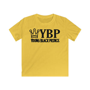 """Young Black Prince"" Kids Softstyle Tee"