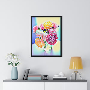 """Still Life - Full Bloom"" Custom Print Framed Vertical Poster"