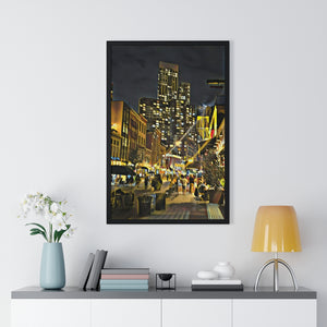 """Grove Street"" Custom Graphic Print Premium Framed Poster"