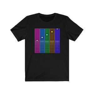 """Phases"" Retro Unisex Jersey Short Sleeve Tee"