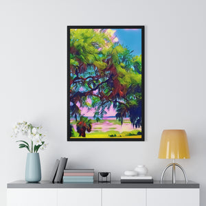"""Beaufort By the Sea"" Custom Graphic Framed Vertical Poster"