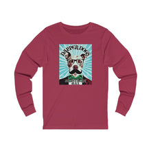 "Load image into Gallery viewer, ""Dapper Dogs Moustache Wax - 2""  Vintage Graphic Jersey Long Sleeve Tee"