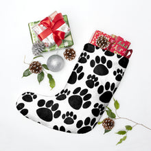 "Load image into Gallery viewer, ""Large Paw Prints"" Christmas Stockings"