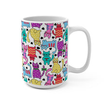 "Load image into Gallery viewer, ""Cartoon Cats"" Mug 15oz"