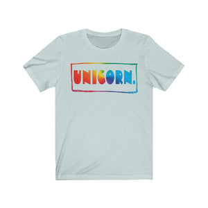 """Unicorn."" Unisex Jersey Short Sleeve Tee"
