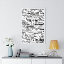 "Load image into Gallery viewer, ""Words"" Graphic Premium Framed Vertical Poster"