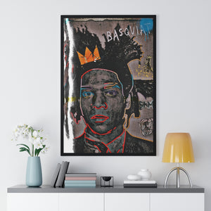 """Ode To Basquiat"" Premium Framed Vertical Poster"
