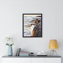 "Load image into Gallery viewer, ""Beach Scenes - A"" Custom Printed Premium Framed Poster"