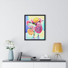 "Load image into Gallery viewer, ""Still Life - Full Bloom"" Custom Print Framed Vertical Poster"