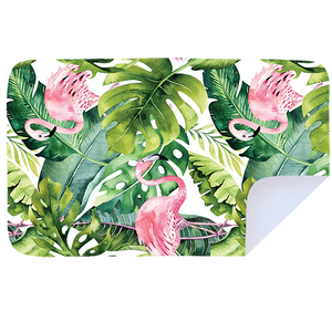 Pink Jungle Flamingo - Microfibre Printed Towel