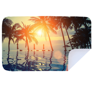 Poolside Palm - Microfibre Printed Towel
