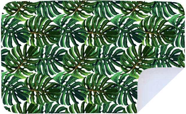 Big Green Leaves - Microfibre Printed Towel