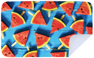 Blue Watermelon - Microfibre Printed Towel