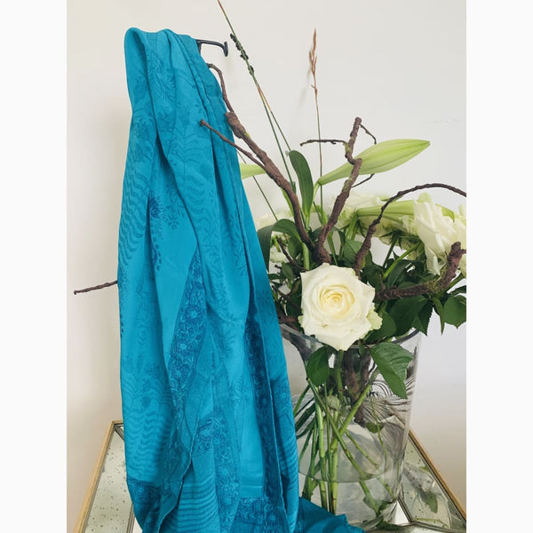Ocean blue and turquoise - Shawl
