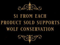 $1 from each product supports wolf conservation