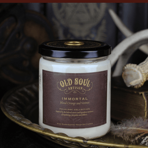 16 oz Soy Candle - Immortal (blood orange and vetiver)