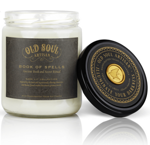 16 oz Soy Candle - Book of Spells (ancient book and secret ritual)