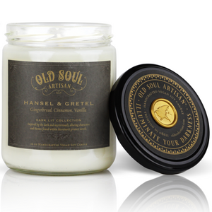 16 oz Soy Candle - Hansel & Gretel (gingerbread, cinnamon, vanilla)