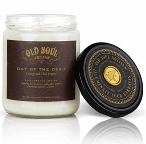 16 oz Soy Candle - Day of the Dead (orange and chili pepper)