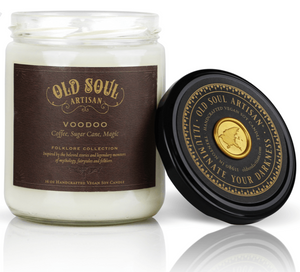 16 oz Soy Candle - Voodoo (coffee, sugar cane, magic)