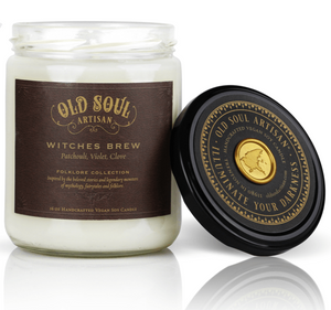 16 oz Soy Candle - Witches Brew (patchouli, violet, clove)
