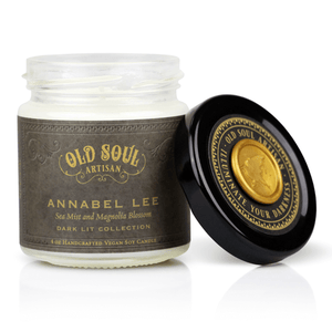 4 oz Soy Candle - Annabel Lee (sea mist and magnolia blossom)