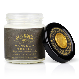 4 oz Soy Candle - Hansel & Gretel (gingerbread, cinnamon, vanilla)