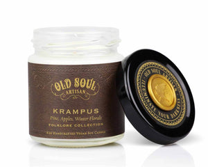 4 oz Soy Candle - Krampus (pine, apples, winter florals)