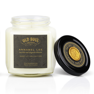 9 oz Soy Candle FRONT - Annabel Lee (sea mist and magnolia blossom)