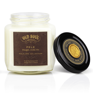 9 oz Soy Candle - Pele (pineapple, orchid, fire) - Old Soul Artisan