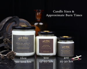 Old Soul Artisan Candle Sizes
