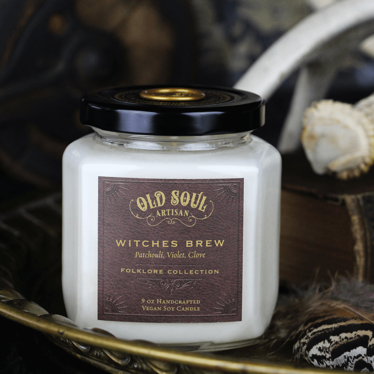 9 oz Soy Candle - Witches Brew (patchouli, violet, clove)