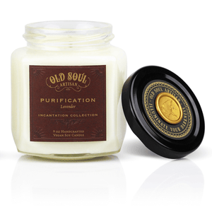 9 oz Soy Candle FRONT - Purification (lavender)