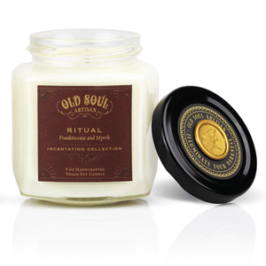 9 oz Soy Candle FRONT - Ritual (frankincense and myrrh)