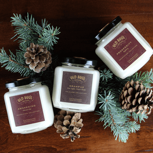 Seasonal Bestsellers - Awakening, Krampus, and Prosperity 9oz soy candles